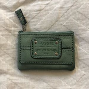 Leather fossil coin purse